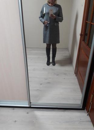 Стильное,натуральное,качественное,мега- теплое,25%кашемира,5%шерсти,платье в стиле шанель