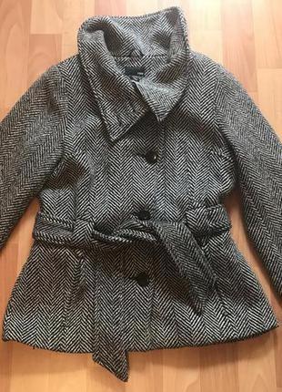 Драповое пальто h&m