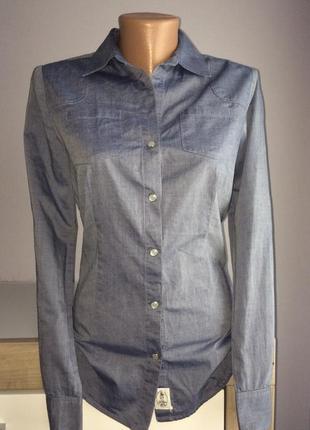 Брендовая рубашка на кнопках