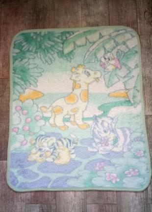 Детское мягкое покрывало ,одеяло ,плед с рисунком