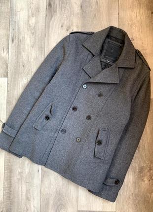Фирменное пальто, полупальто большого размера мужское, тренч, дафл, дафл кот
