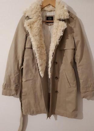 Утепленный тренч/пальто