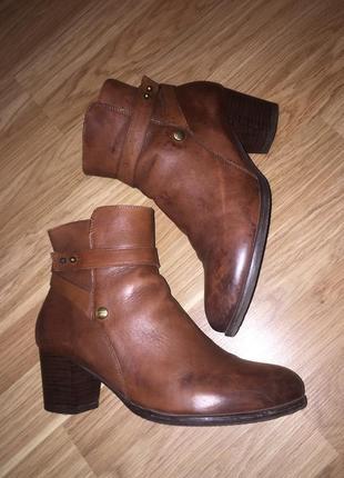 Осенние ботинки ботильоны из натуральной кожи