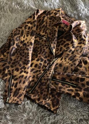 Леопардовая косуха boohoo