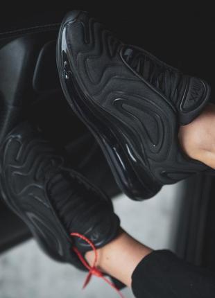 Шикарные мужские кроссовки nike air max 720 black чёрные 😃 (весна лето осень)