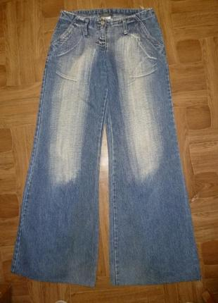 Фирменные джинсы-кюлоты(клеш от бедра) осень-весна,винтаж
