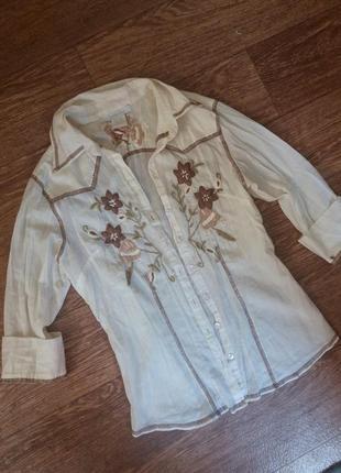 Шикарная вышитая рубашка блуза вишиванка