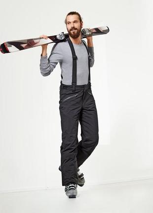 Шикарные теплые функциональные лыжные штаны ecorepel® от tchibo(германия), размеры s, xl