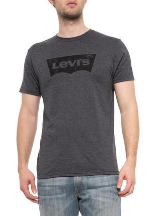 Levis heather charcoal new logo t-shirt - мужская футболка левис с логотипом из сша/usa! s