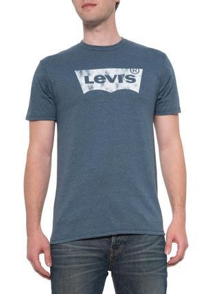 Levis indigo black heather new logo graphic t-shirt - мужская футболка левис сша/usa! s, m