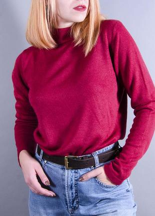 Красный джемпер под горло,  теплая водолзка, теплый свитер