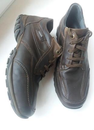 Кожаные мужские туфли gore-tex .fretz men. швейцария 41р