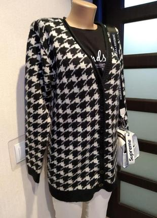 Отличный стильный теплый кардиган кофта свитер джемпер