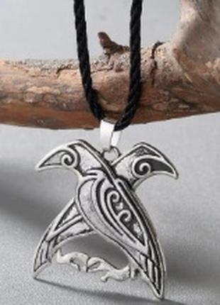 Крутой кулон в скандинавском стиле вороны птица ворон