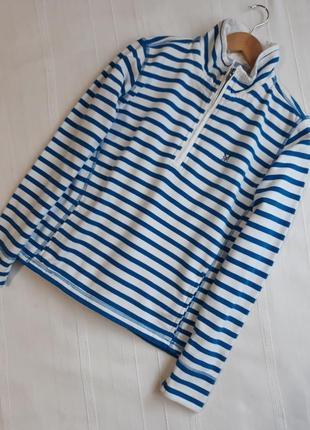 Crew clothing новый#фирменный#хлопковый свитшот#реглан#кофта с начесом в полоску.