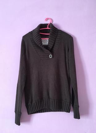 Хорошая тёплая кофта качественная коричневого цвета свитер