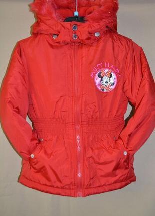 Куртка детская евро зима disney германия размер 5-6 лет