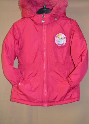 Куртка детская евро зима disney германия размер 7-8 лет