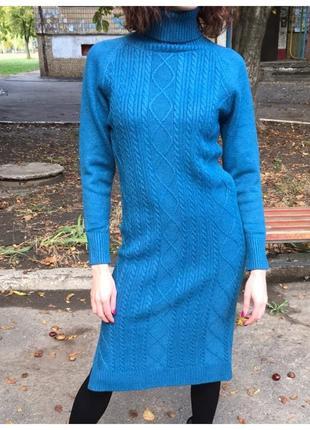 Очень красивое теплое платье.