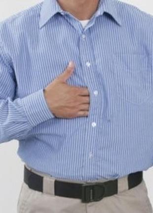 Ультра батал большая мужская рубашка в полоску 7хл