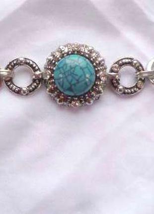 Шикарный браслет с бирюзой
