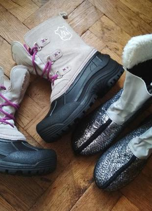 Сапоги,сноубутсы crane,замшевые сапожки с валянком,ботинки зимние