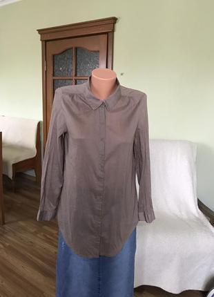 Длинная рубашка с очень тонкого хлопка
