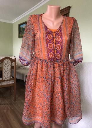 Восточное шелковое платье