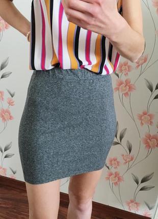 Трикотажная хлопковая юбка divided