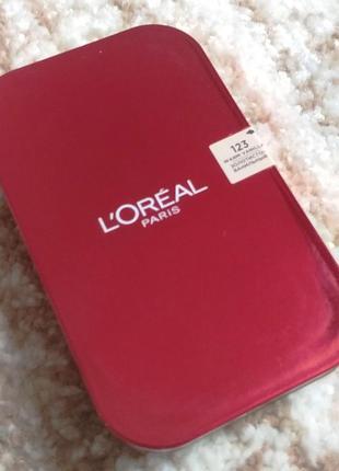 Компактная стойкая матирующая пудра для лица l'oreal paris infallible ultra-matte powder