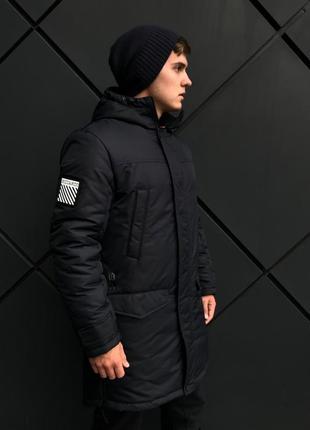 Зимняя темно-синяя куртка парка (46-54)