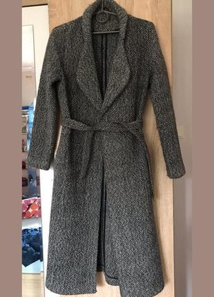 Стильное твидовое бесподкладочное пальто stefanel италия