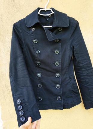 Джинсовая куртка h&m, милитари стиль