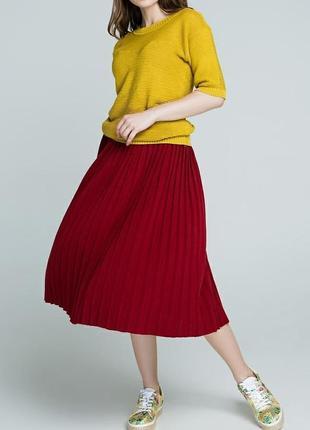 Новая качественная красная юбка плисе
