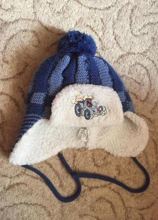 Зимняя шапка ушанка 47-49