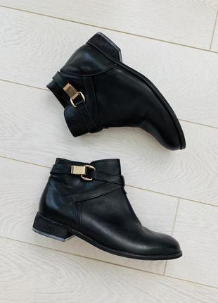 Полуботинки ботинки черные кожаные женские