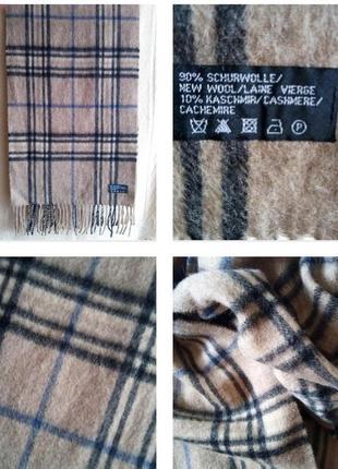 Трендовый , теплый шарф пастельных тонов из шерсти и кашемира!
