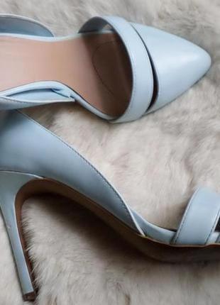 Туфли-лодочки голубые stradivarius