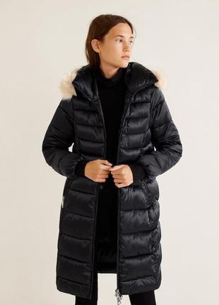 Шикарная куртка зима анорак от mango