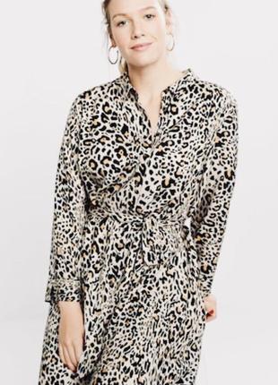 Тренд 2019 леопардовое платье вискоза mango violeta