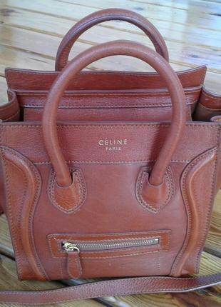 Кожаная сумка/ crossbody /сумочка celine