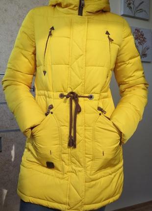 Супер-теплый женский пуховик с капюшоном