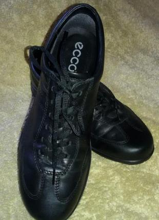 Кожаные туфли ecco оригинал