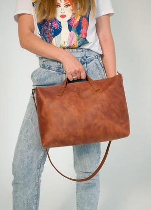 Шкіряна жіноча сумка bella, кожаная сумка ручной работы, сумка из кожи крейзи хорс
