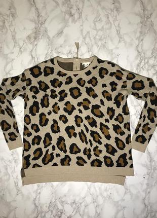 Кофта / свитшот леопард h&m