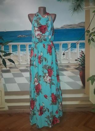 Яскрава сукня в квітковий принт 48-54 розміру!