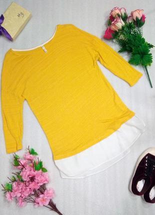 Симпатичная кофта топ рубашка желтого цвета от stradivarius m