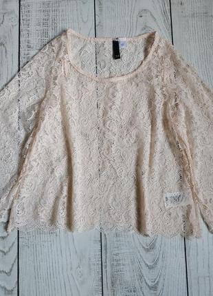 Гипюровая блуза h&m pp 34