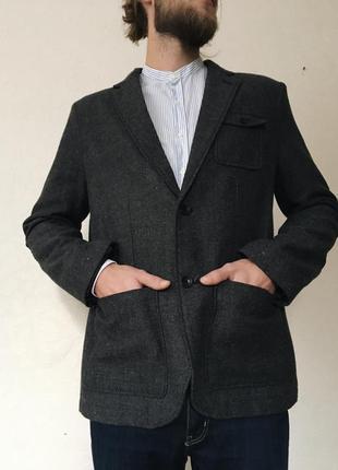 Мужской шерстяной пиджак george