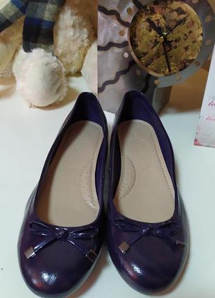 Кожанные лаковые туфли